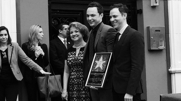 Jim Parsons a Hollywood Walk of Fame-en